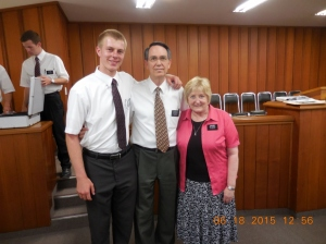 Saying Goodbye to Elder and Sister Christensen